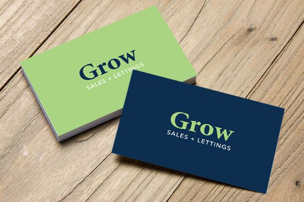 Grow Sales + Lettings business cards